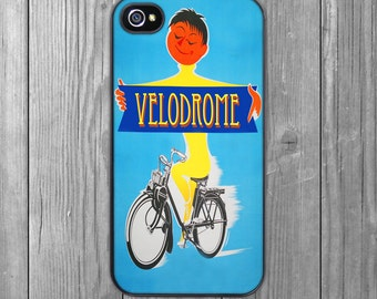 iPhone 7/7 Plus Case, iPhone 6/6S Case,iPhone 6/6S Plus Case, iPhone 5/5S Case, iPhone 5C Case - 1930's Velodrome Cycling Poster iPhone Case