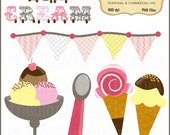 Ice Cream Parlour Clip Art Set - Personal and Commercial Use - Digital Instant Download