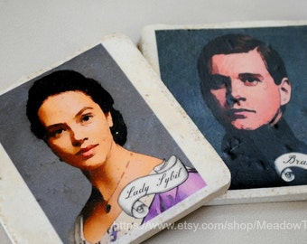 Downton Abbey coasters set of 4