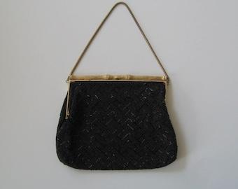 Vintage Evening Bag Walborg Beaded Handmade Collectible Mid Century