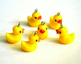 Yellow Ducky Charms 8pc