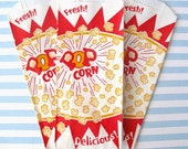 25 Popcorn Bag.  Birthday Party, Concession, PIcnic, BBQs, Movie Night, Carnival, Circus, Sporting Events