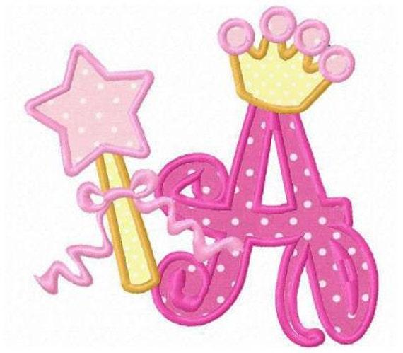 26 princess crown font letters applique machine embroidery. Black Bedroom Furniture Sets. Home Design Ideas