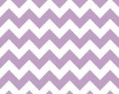 Lavender and White Chevron Cotton for Riley Blake, 1 Yard