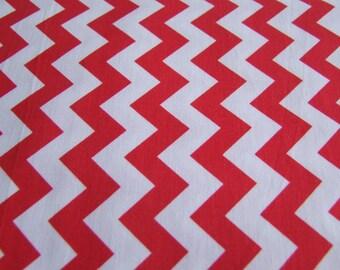 Red Chevron Fabric by the Yard Small Print Riley Blake Designs