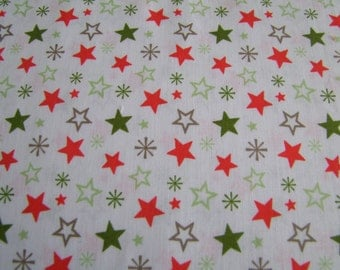 SALE A Merry Little Christmas Zoe Pearn  Riley Blake Designs  1 Yard Taupe Merry Stars