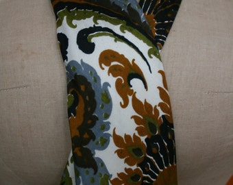 Mid Century Vintage 100% THAI SILK Peacock Feather Wide HandMade Bespoke Tie