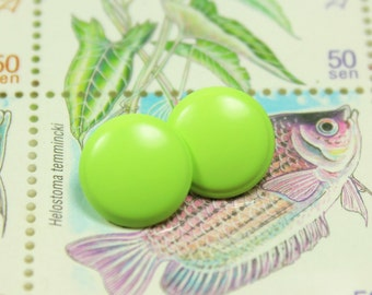 Metal Buttons - Apple Green Small Round Shank Metal Buttons. 0.39 inch, 10 pcs