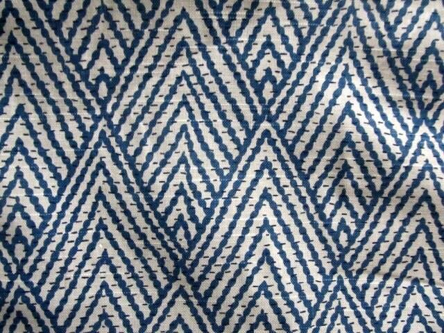 Tahitian Stitch Sapphire Ikat Blue Designer