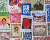 Latin Love 50 Vintage Worldwide Latin American Postage Stamps Philately Hispanic Central South America Mexico Brasil