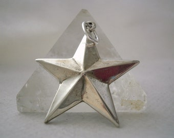 Sterling Silver Pendant Nautic Star