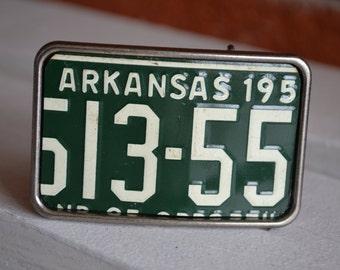 Arkansas   License Plate Belt Buckle