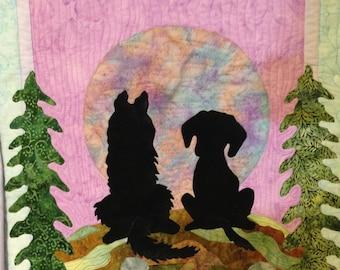 art quilt pattern : a quiet moment between friends