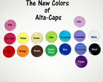 Plastic Alta Caps - 50 caps mixed colors