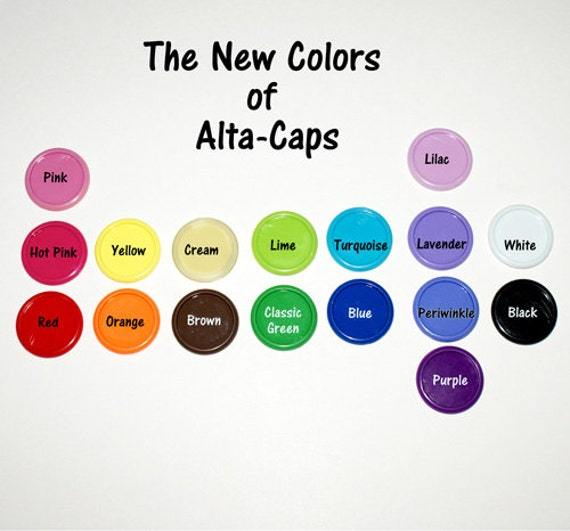 Plastic Alta Caps - 100 caps mixed colors