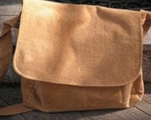 Caramel Color Cotton Moleskin Dude Bag