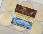 Cottage Hydrangea  Soy Tea Light 6 pack Phthalate Free