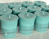 Teal Soy Votive Candles 12 Unscented Tiffany Blue