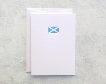 Letterpress Note Card - Flag of Scotland