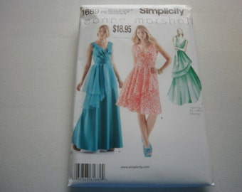 Pattern Womens Special Occasion Dresses 2 Styles Sizes 12 to 20 Simplicity 1689