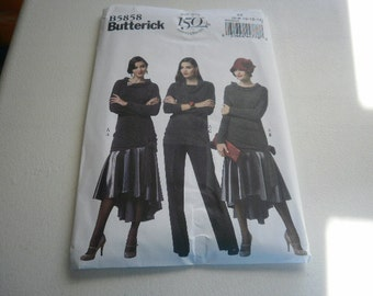 Pattern Ladies Skirt Top Pants Sizes 6 to 14 Butterick 5858