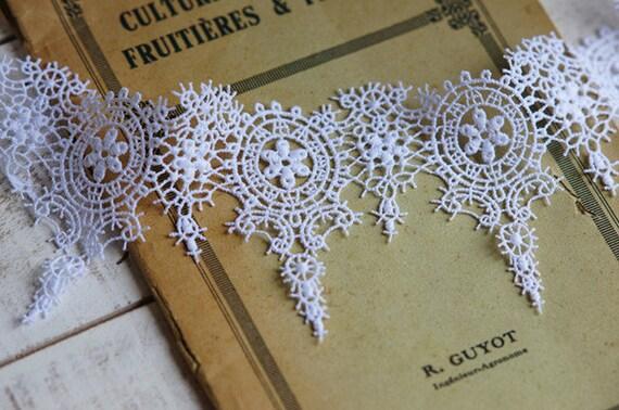 hot sale 7cm victorian whitet venice lace trim