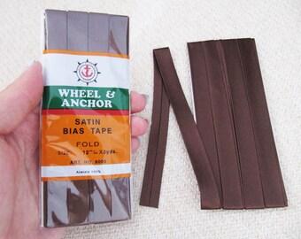 Satin Bias Tape - Dark Brown