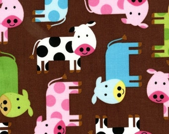 Urban Zoologie Spring Cows by Ann Kelle for Robert Kaufman, 1/2 yard