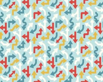 Cruiser Blvd Arrows Blue by Sheri McCulley Studio for Riley Blake, 1/2 yard