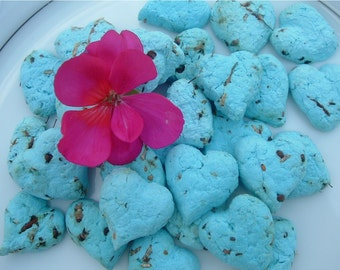 Plantable Earth-Friendly Favors. Set of 40 hearts. Choose your colors.