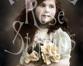 Bernadette-Victorian Little Girl-Digital Image Download