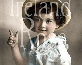 Hans-Country Boy-Vintage Postcard Digital Download