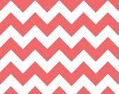 ON SALE 1 Yard Riley Blake Rouge Medium Chevron Print