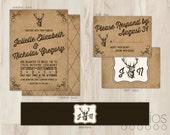 DIY Rustic Deer Wedding Invitation Suite // Custom Printable