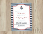 DIY Nautical Bridal Shower Invitation