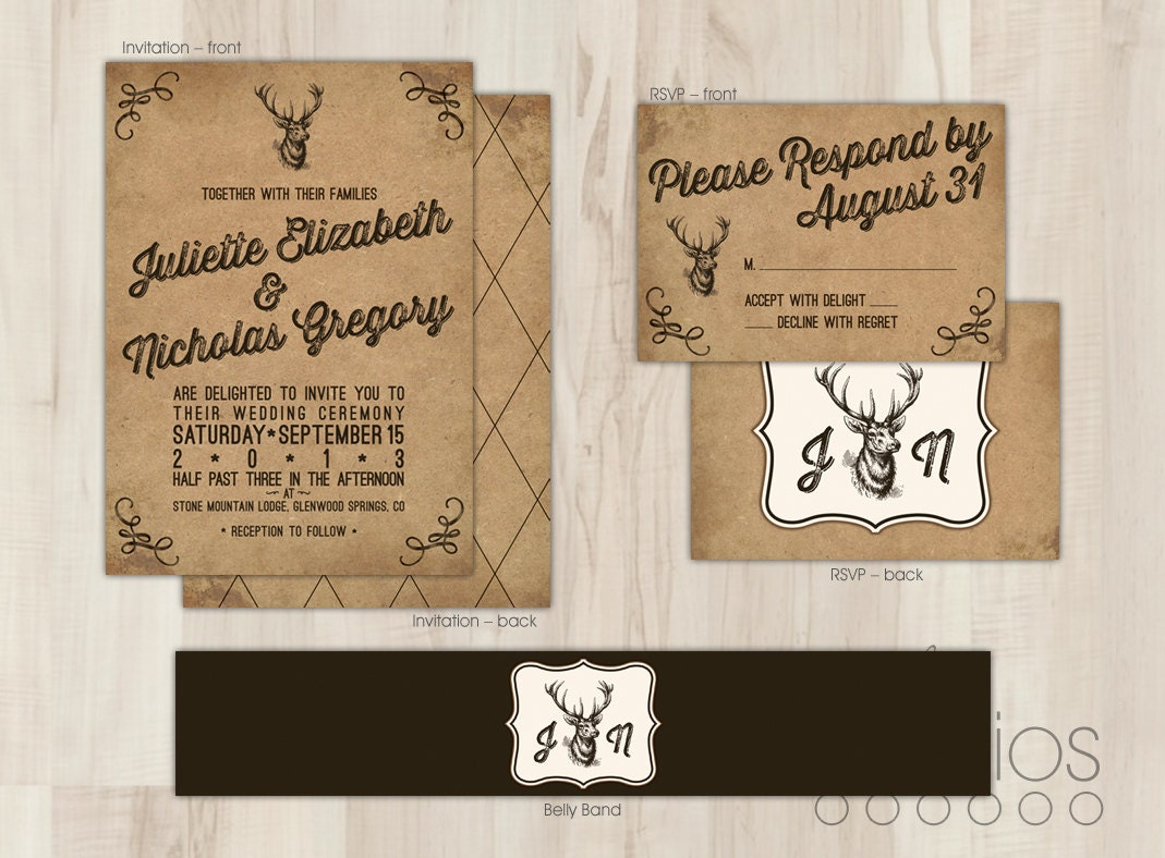 Deer Wedding Invitations absolutely amazing ideas for your invitation example