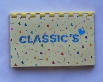 "Handmade ""Blue Classic's"" Blank Recipe Book"