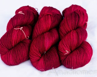 Sour Cherry on Cashmere Sock