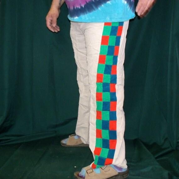 Mens Patchwork Pants Corduroy Hippie Handmade by kyndvalley