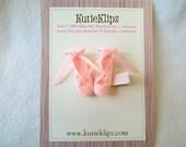 SALE - Pretty Ballerina Slippers Hair Clip,Hairclip,Hair Accessory, Ribbon scultpure, Hair Bow, Hairbow
