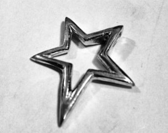 Sterling Silver 925 Charm Star Pendant