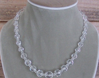 Stunning Crystal and Sterling Necklace