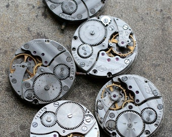 Vintage watch movements -- set of 5 -- D17