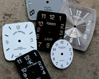 Wrist Watch Faces -- set of 6 -- D10