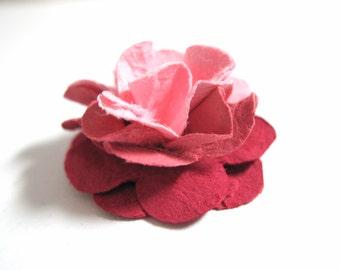 Handmade Mini Paper Flowers Ombre Rose