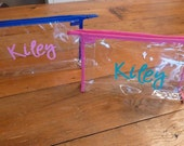 RESERVED (2) Personalized Clear Cosmetic Bag