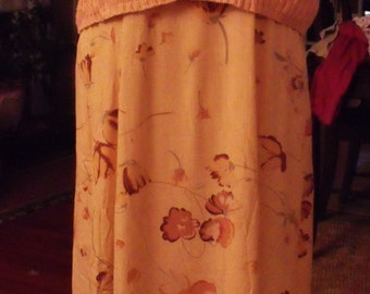 Vintage Dress and Sweater/ Retro 2 Piece Set/1960's Dress Sweater Set/Retro Clothing/Romantic Clothing