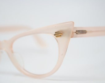 Light Pink cat eye glasses retro vintage