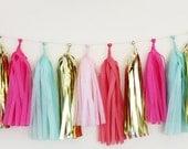 Tissue Tassel Garland-18 tassels- Summer Dreams - TheFlairExchange