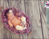 Newborn Photography Prop Pink and Brown Baby Blanket (Children)